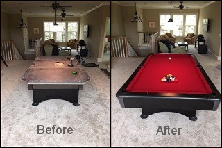 expert pool table recovering in Newport content img3